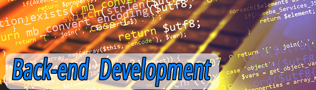 Backend Development Heading Image